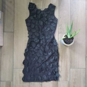 Dresses & Skirts - Gorgeous black floral leaves mesh mini dress M